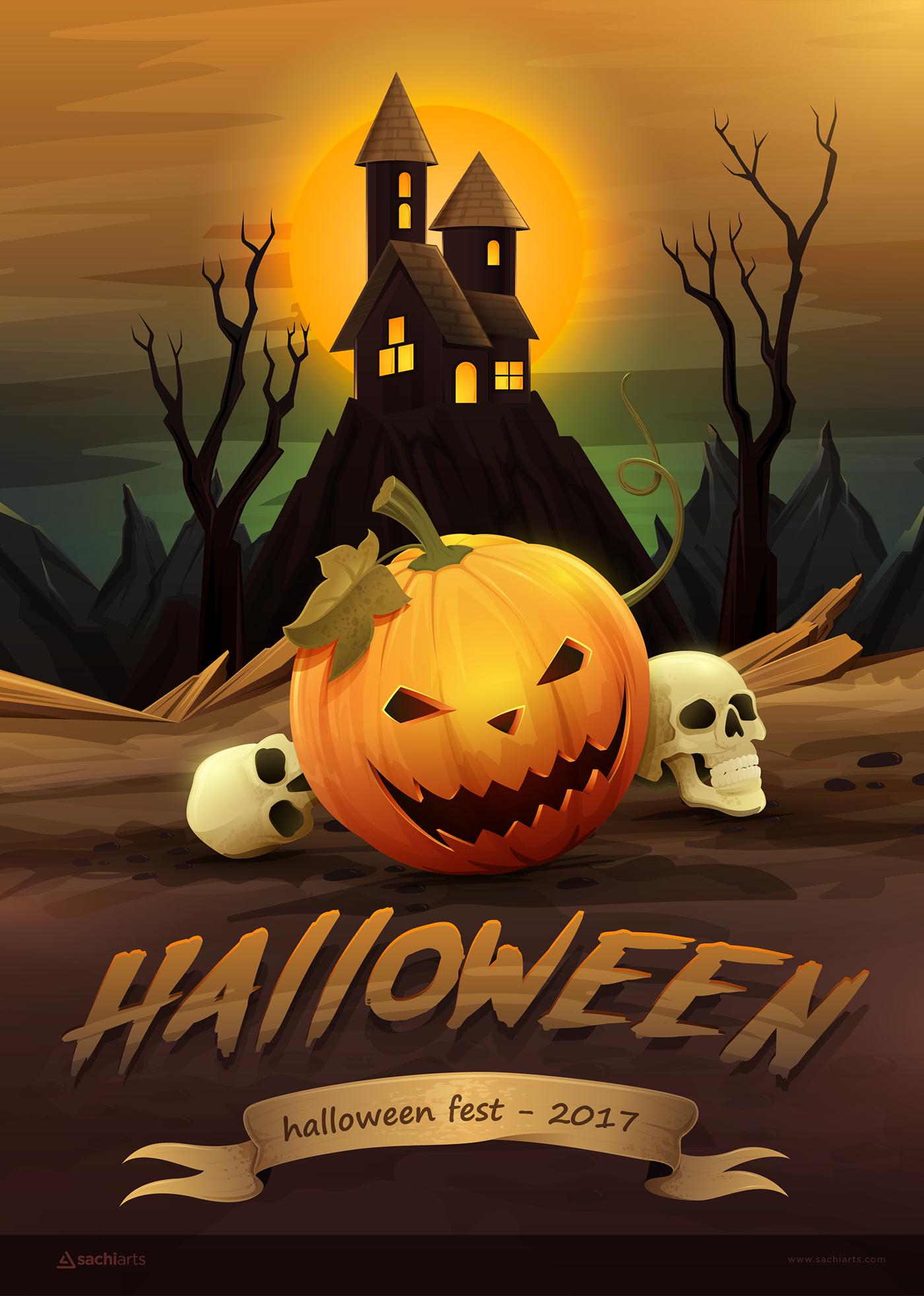 Постеры на хэллоуин
