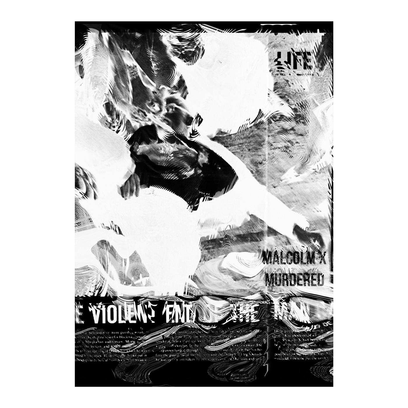 graphic design  Poster Design graphic Demagogue malcolm x JKF kennedy John Lennon