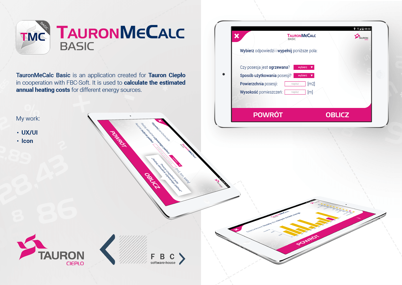 tauron tauron ciepło mobile application app tablet ux UI Layout Icon