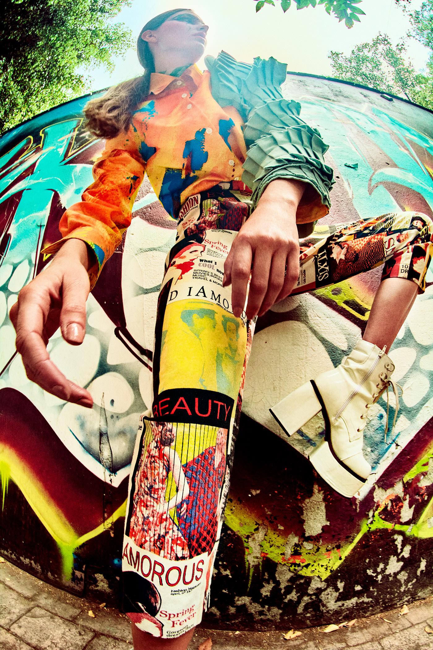 color editorial fashionphotography grafitti mexico model newyork