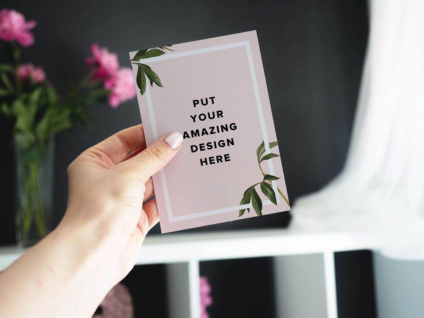 Годовщиной свадьбы, мокапы открыток а5