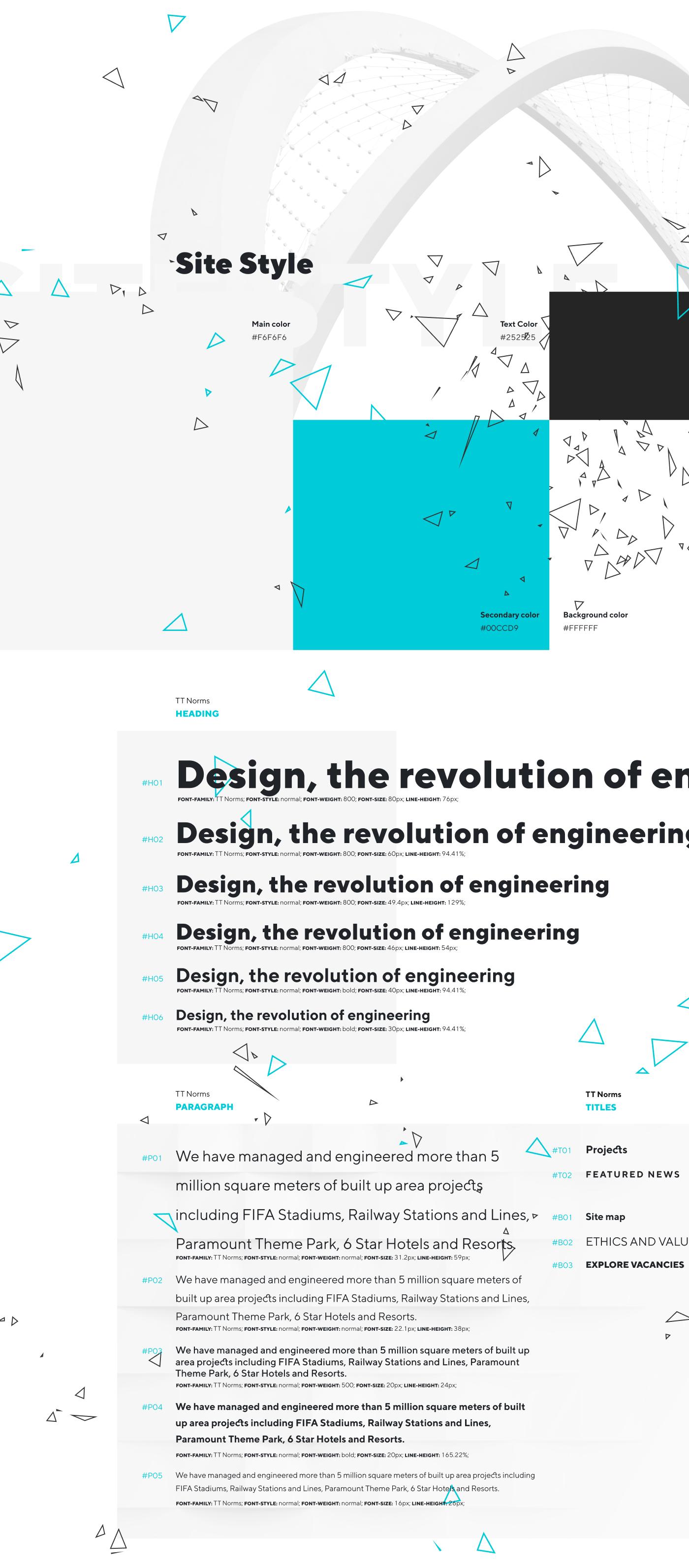 Engineering  modern redesign Technology UI ux Web Website construction Qatar