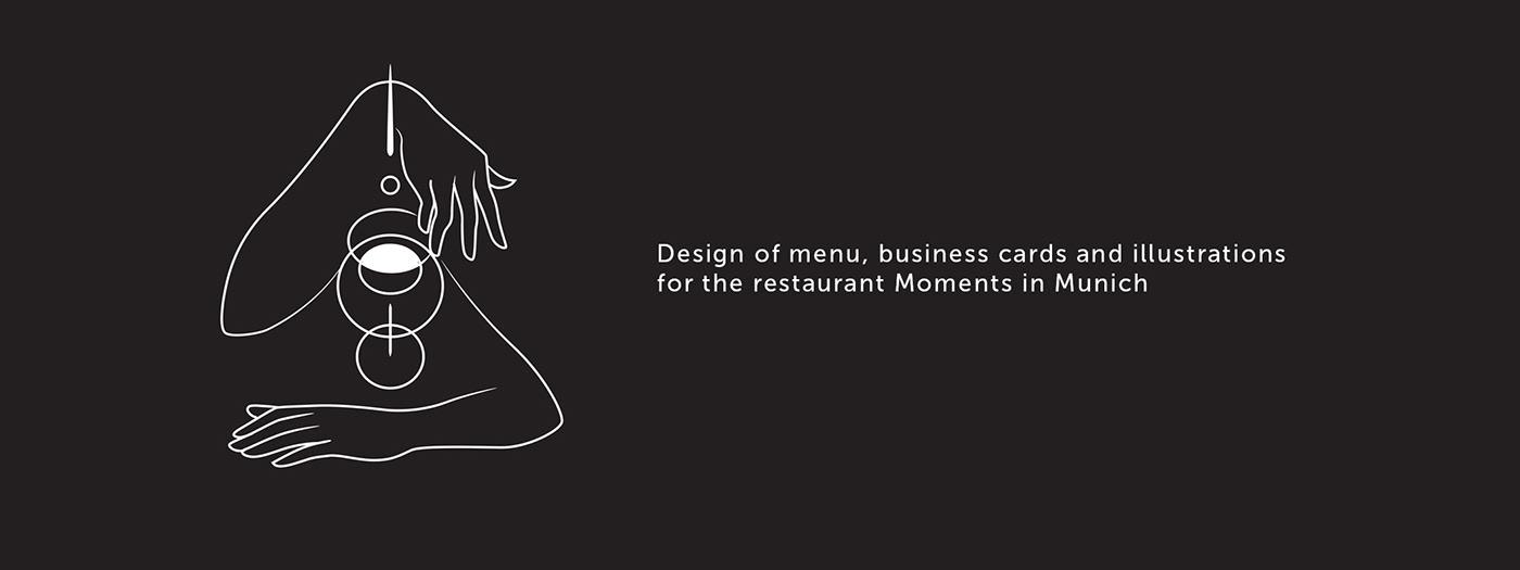design ILLUSTRATION  Food  restaurant germany munich wine menu drinks
