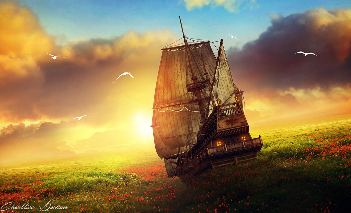 картинки фэнтези небо и корабль отметил, что был