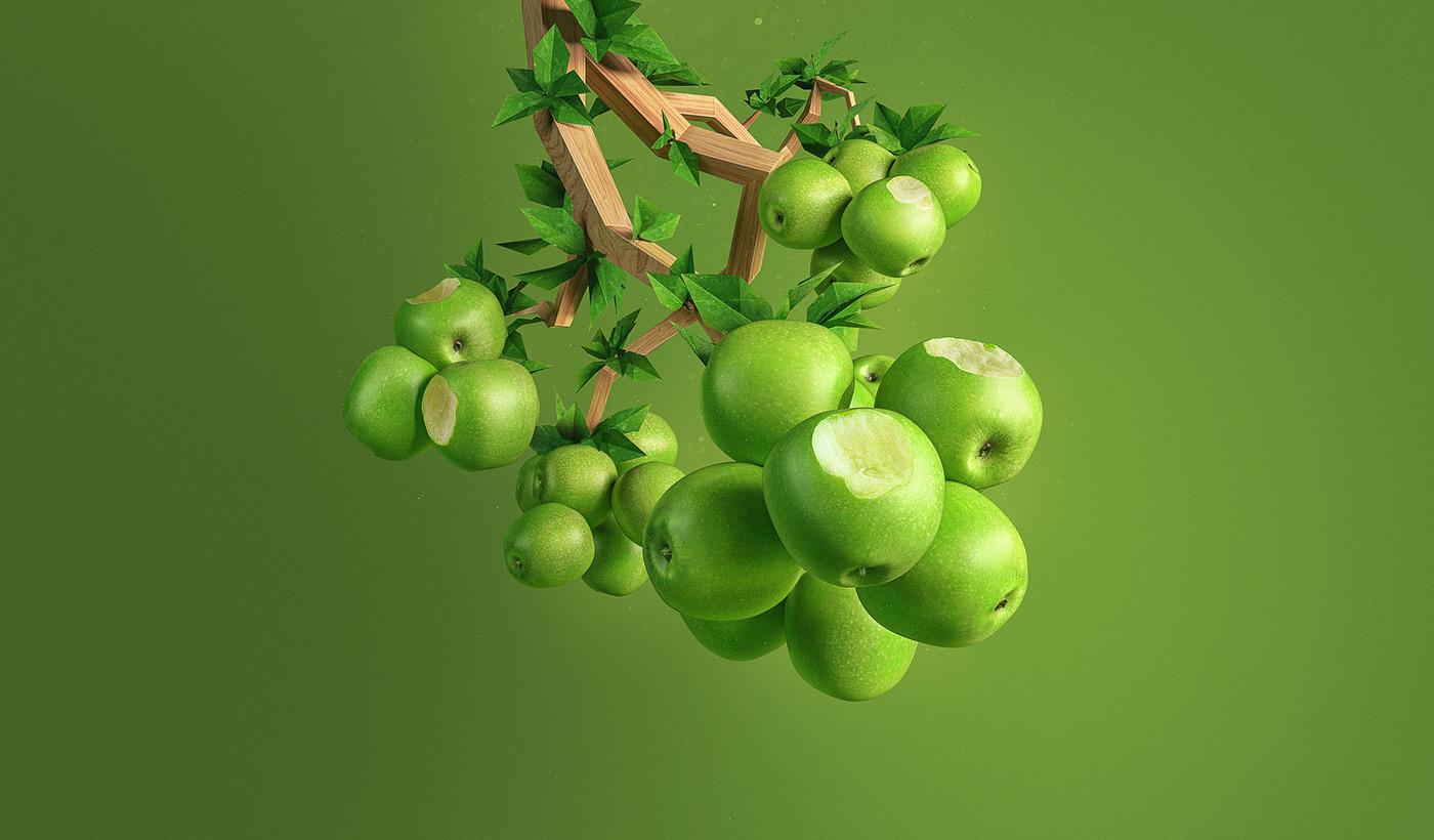 apple dental armchair green CGI stomatology