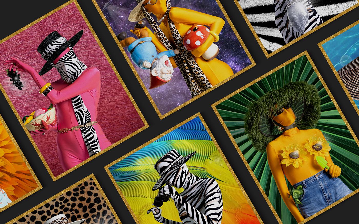 Fashion  art direction  Creative Direction  summer campaign Hats beach kitsch editorial Photography  design