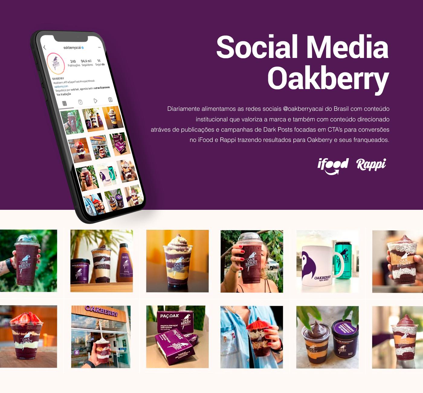animation  campaign Dark Post oakberry social media