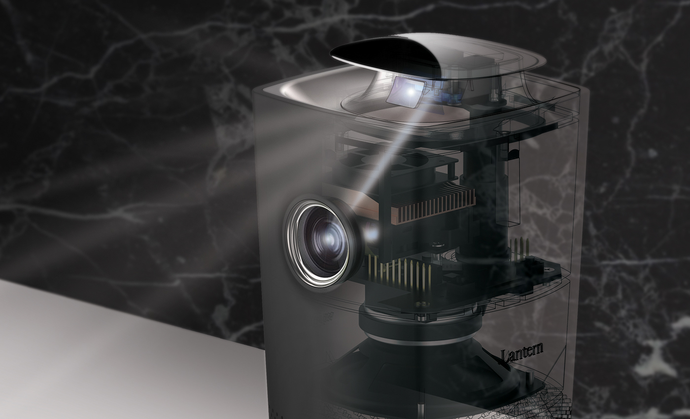 Lantern adaptable throw projector for micro living on for Mirror micro projector