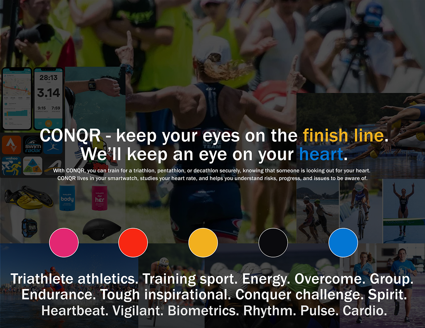 athletics biometrics sport ux sports Triathlon triathlete Marathon runner cyclist swim