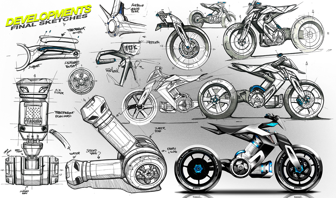 moto design motorcycle yamaha Project concept concepts ISD 2wheels lightweight