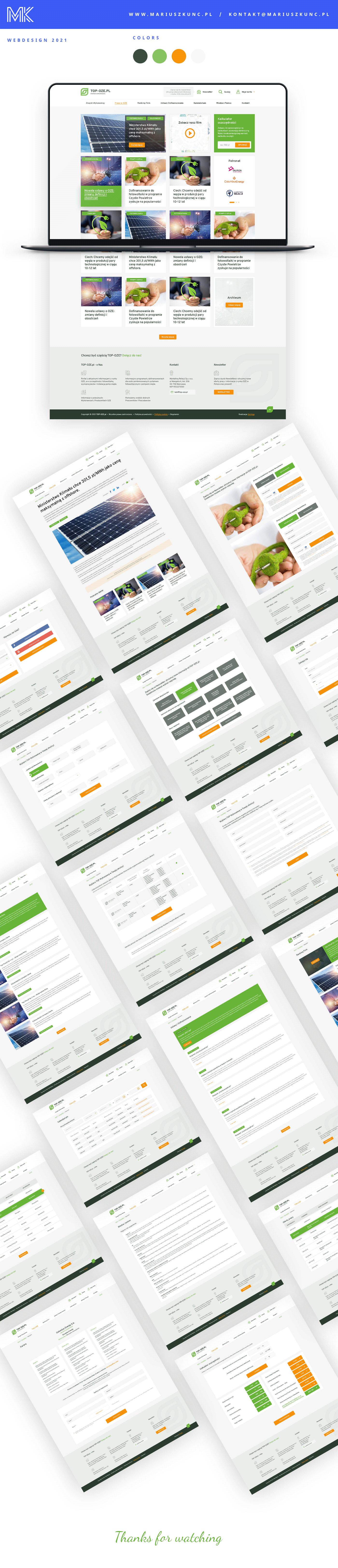 design energia fotowoltaika portal UI uidesign uiux ux Webdesign Website