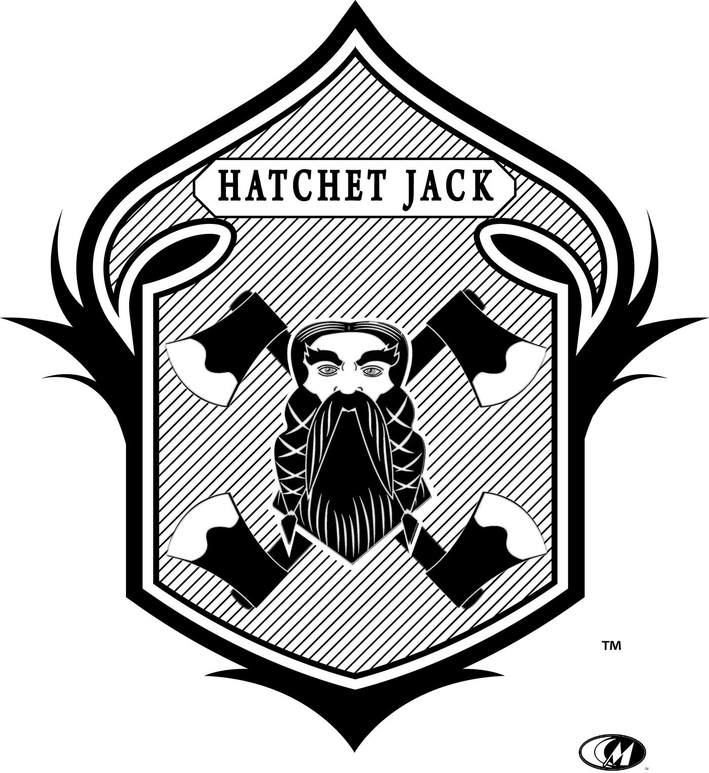 logo hatchet branding  design vector badge
