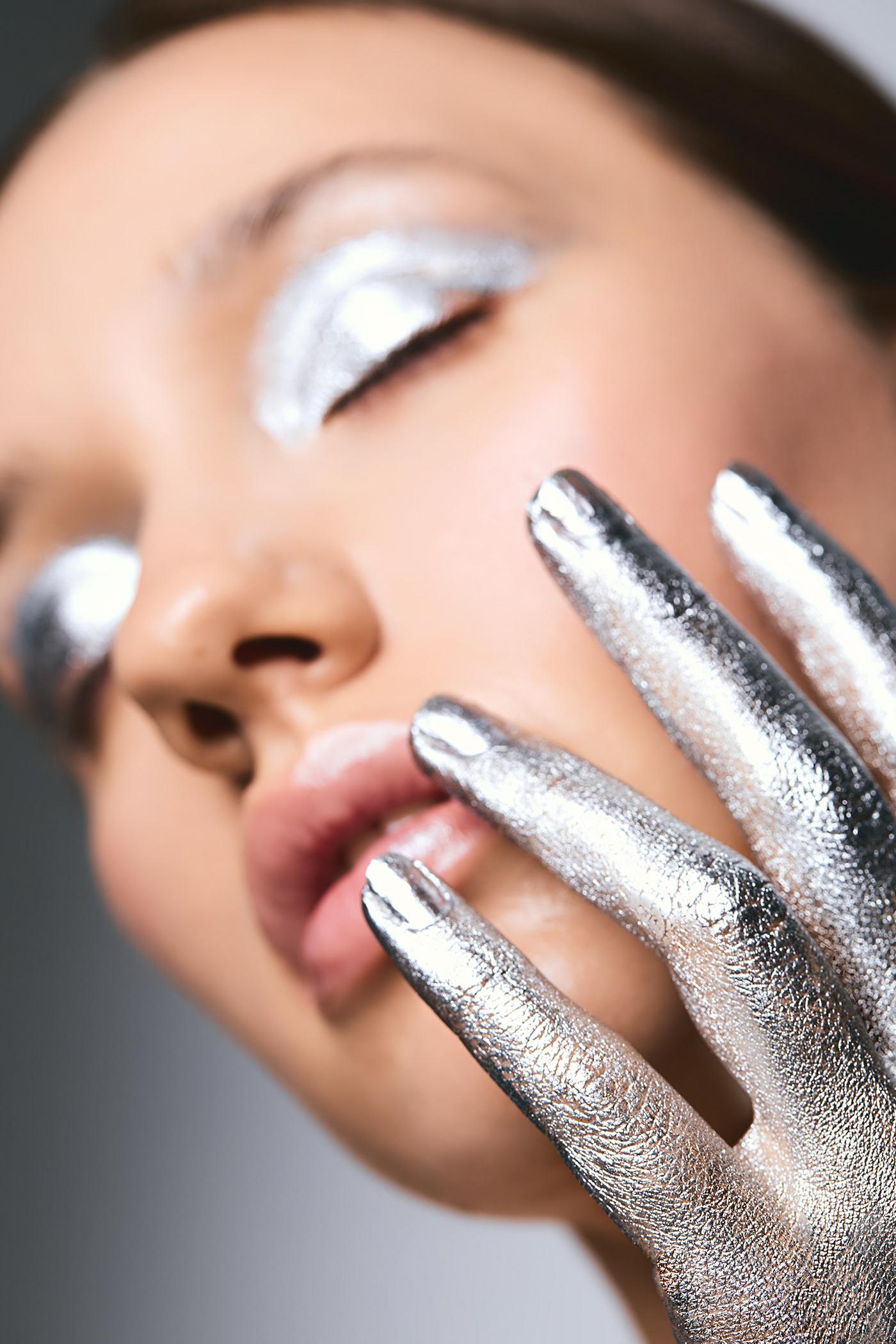 beauty Fashion  macro moda portrait retouch silver