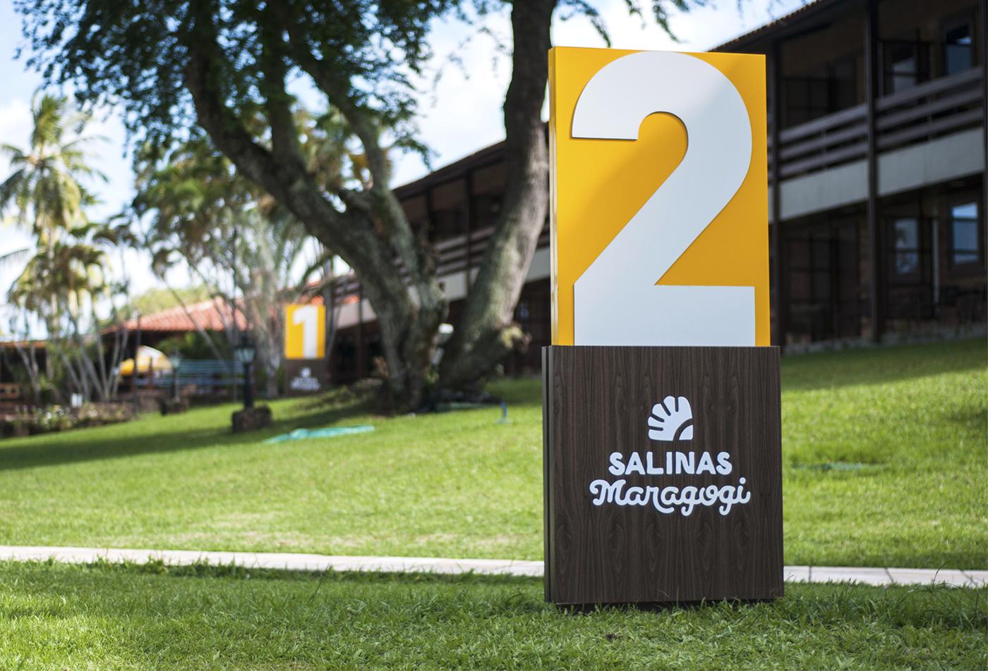 salinas maragogi Maragogi Alagoas resort Sinalização Signage design corisco design corisco wayfinding