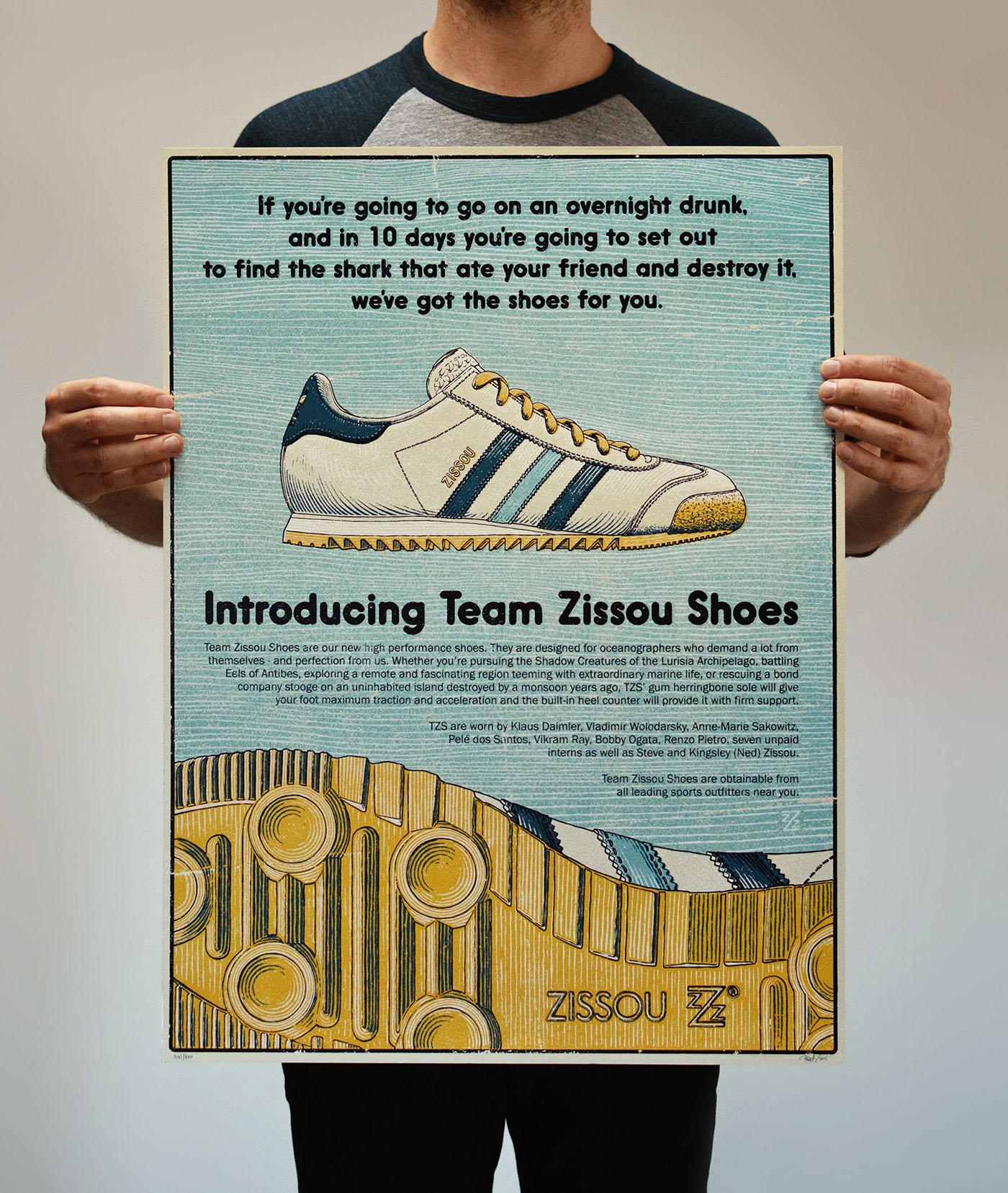 Adidas Team Zissou Shoes - Life Aquatic on Behance 2c524d353