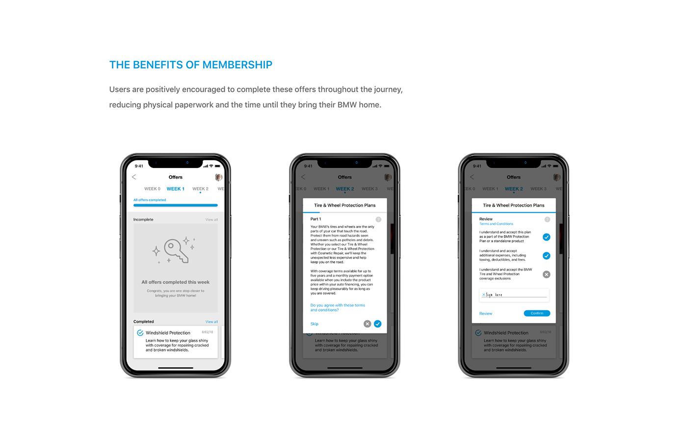BMW car UI/UX Advertising  branding  Mobile UI tracking financial offers adobeawards