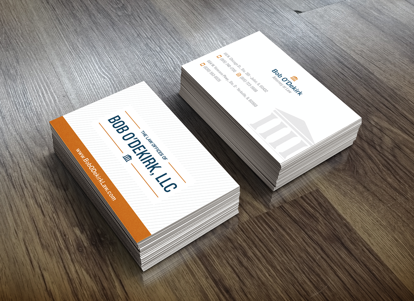 Bob O\'Dekirk Law Logo & Business Card Design on Behance