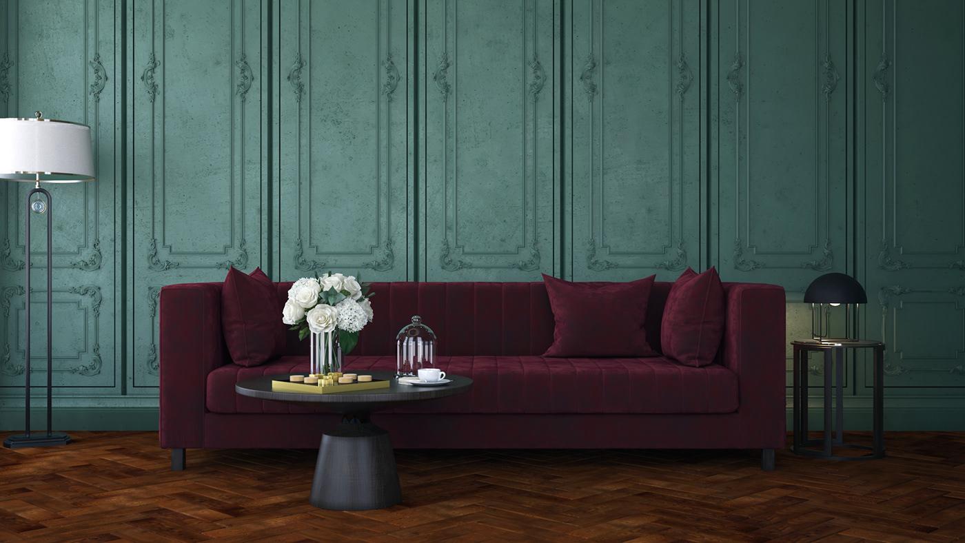高質感的16款綠色牆面配色欣賞