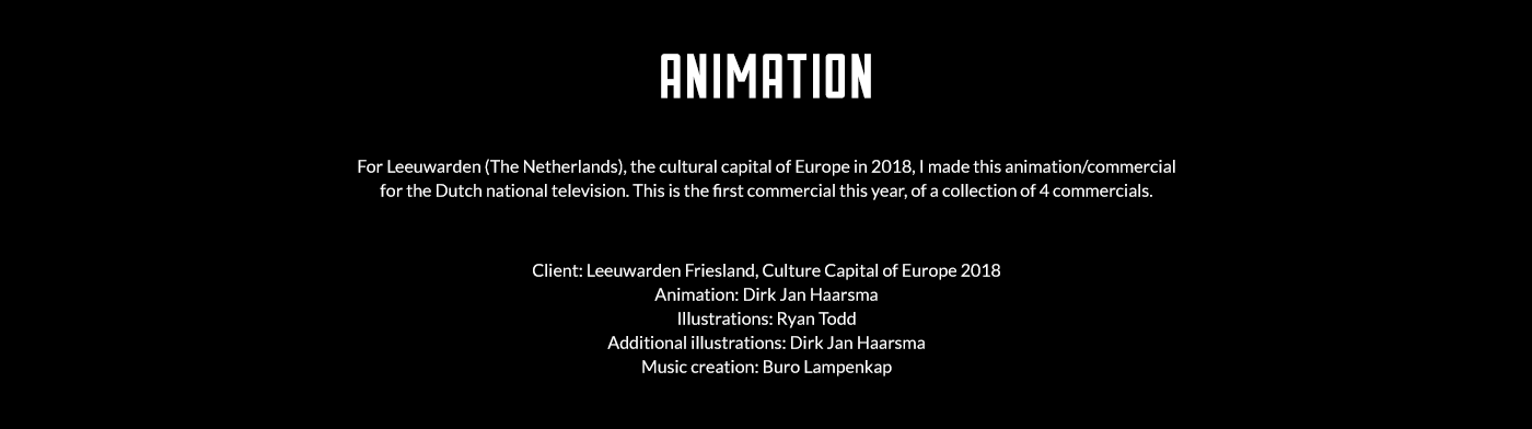 animation  commercial Leeuwarden Friesland broadcast television culture capital cultural