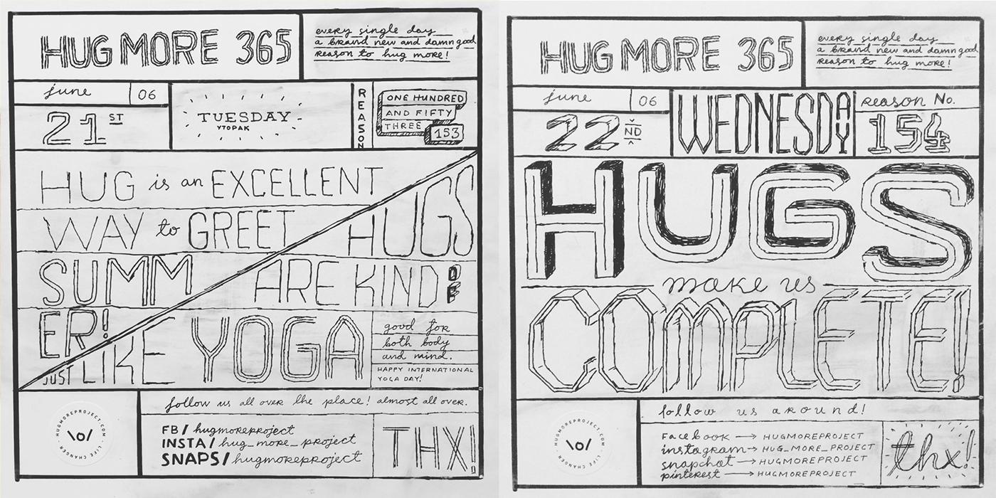 Hug More 365 / part 2 on Behance