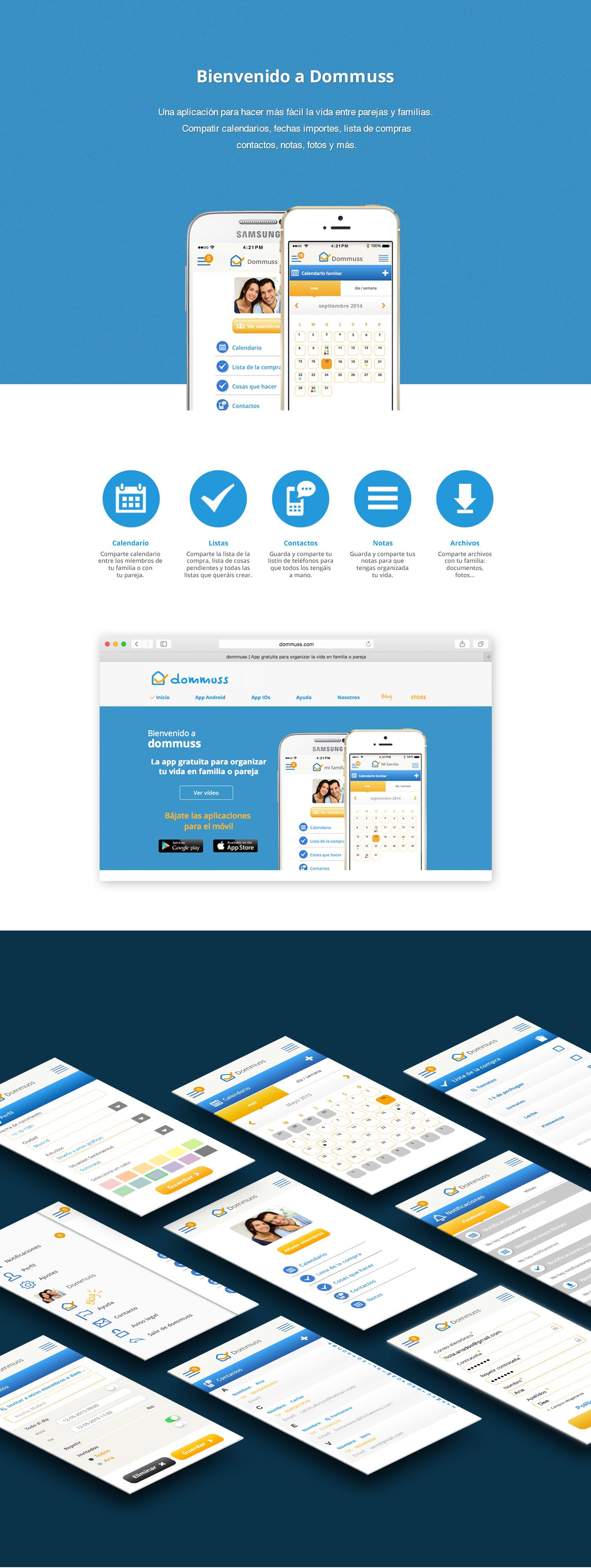 Adobe Portfolio UI ux Webdesign app dommuss