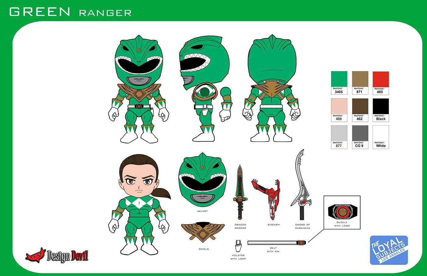 Mighty Morphin Power Ranger Mini Figures On Behance