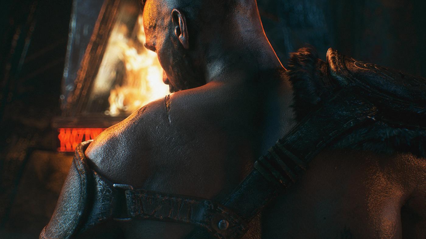 3d motion art direction  CGI cinema 4d cinematic fight Octane Render viking blood heroes