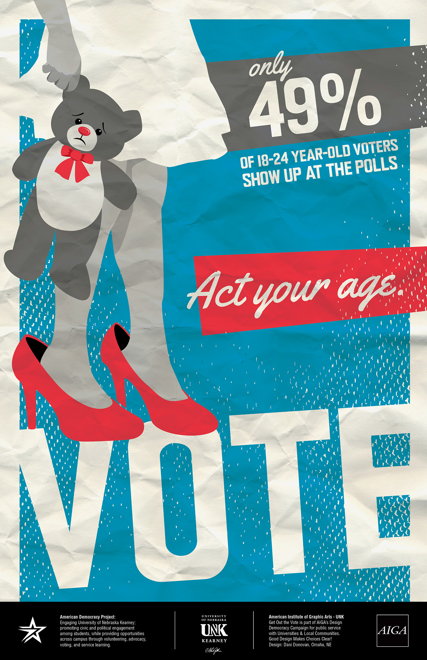 "Get The Best Makeup Looks Inspired By Celebs: AIGA ""Get Out The Vote"" Posters On Behance"