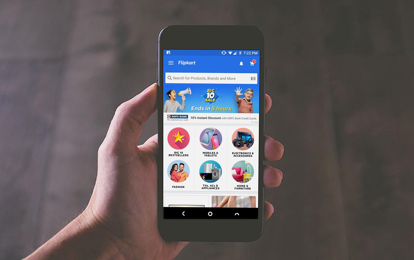 e-commerce Flipkart UI/UX Design Big10 Flipkart anniversary sale