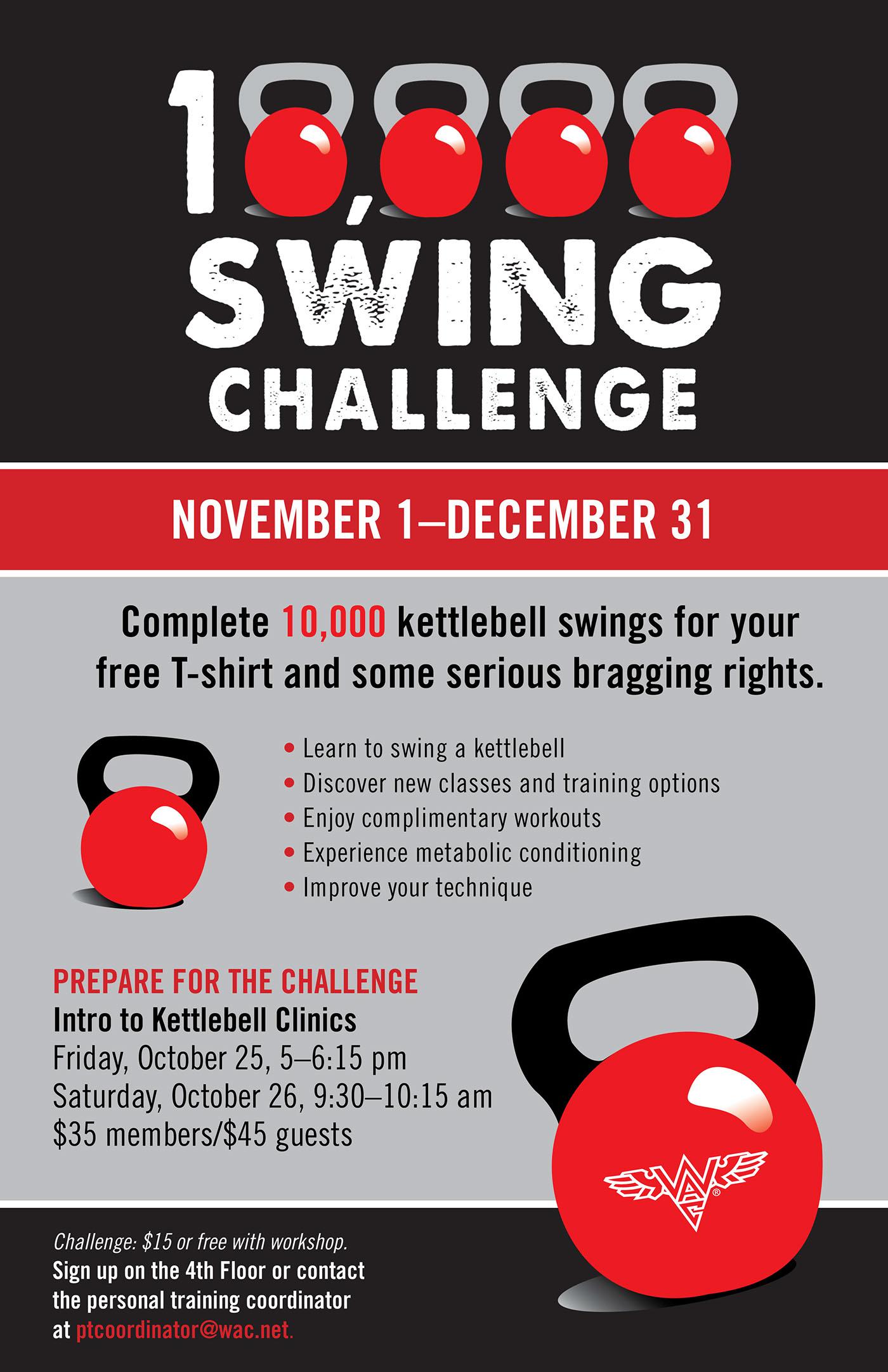 Wac 10 000 Swing Challenge On Behance