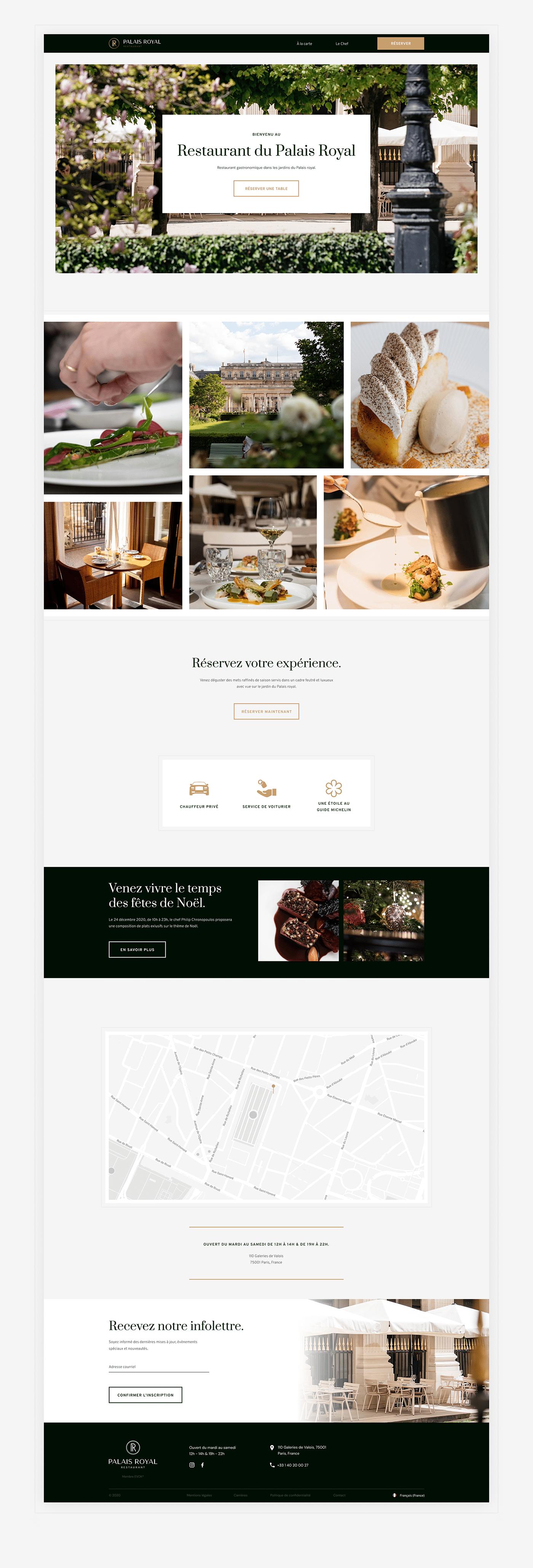 animations audit Figma Food  French gourmet luxury restaurant Webdesign Website