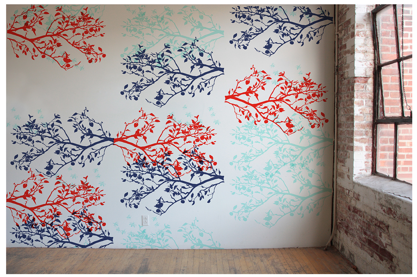 Silk screen printed wallpaper collection on behance for Printed wallpaper