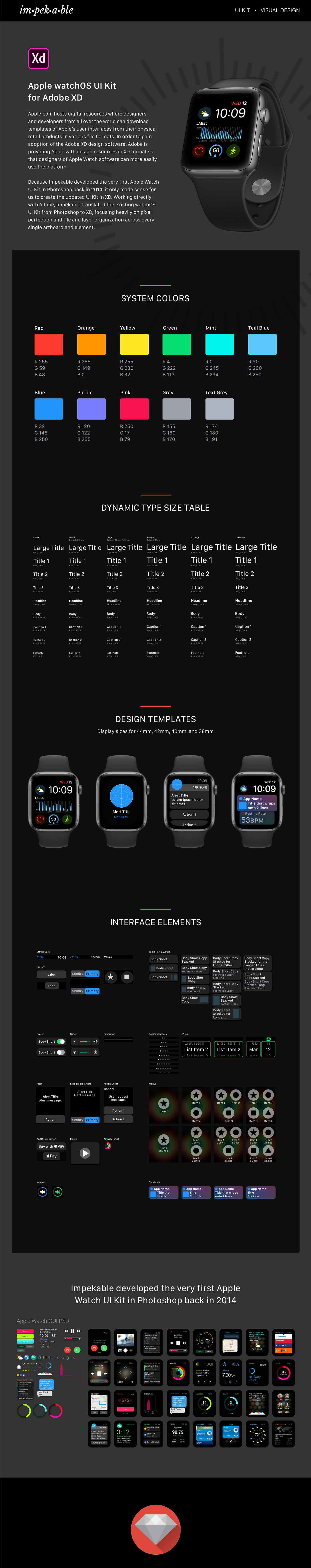 ui kit free visual design resources apple watch watch wearables
