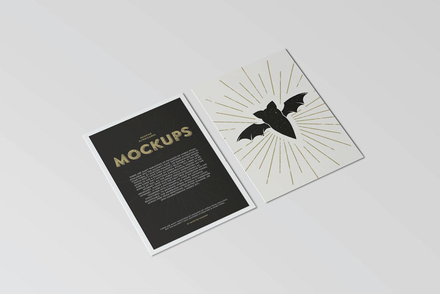 free free download freebie Mockup mockups brochure flyer postcard a6 a4