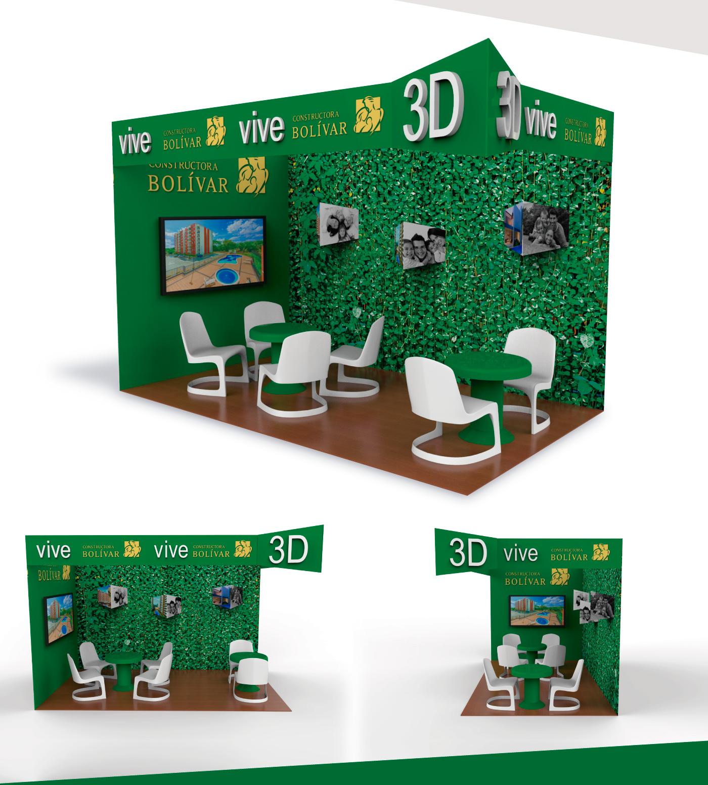 3D modeling Stand model modelado 3d