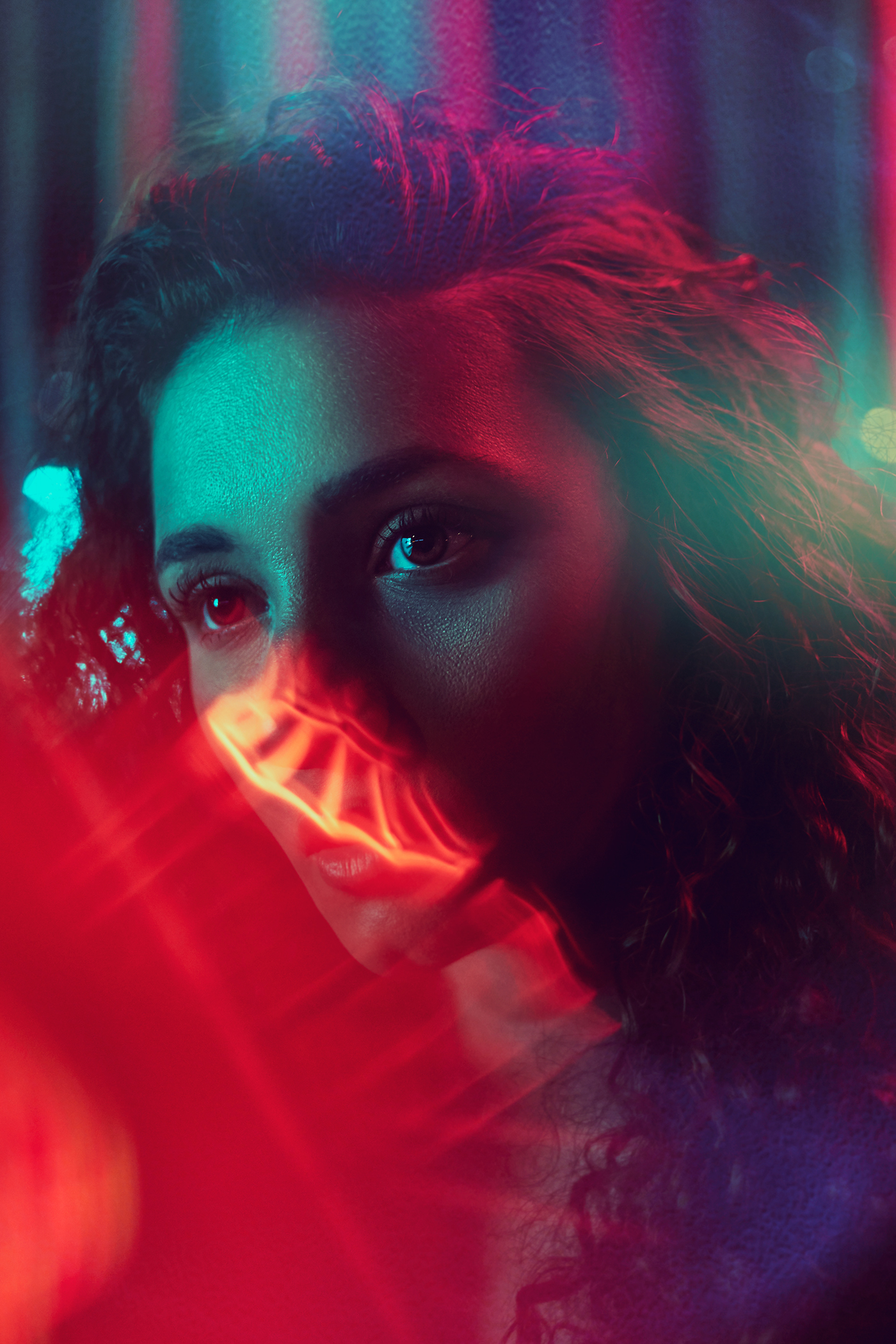Neon Light Portrait On Behance