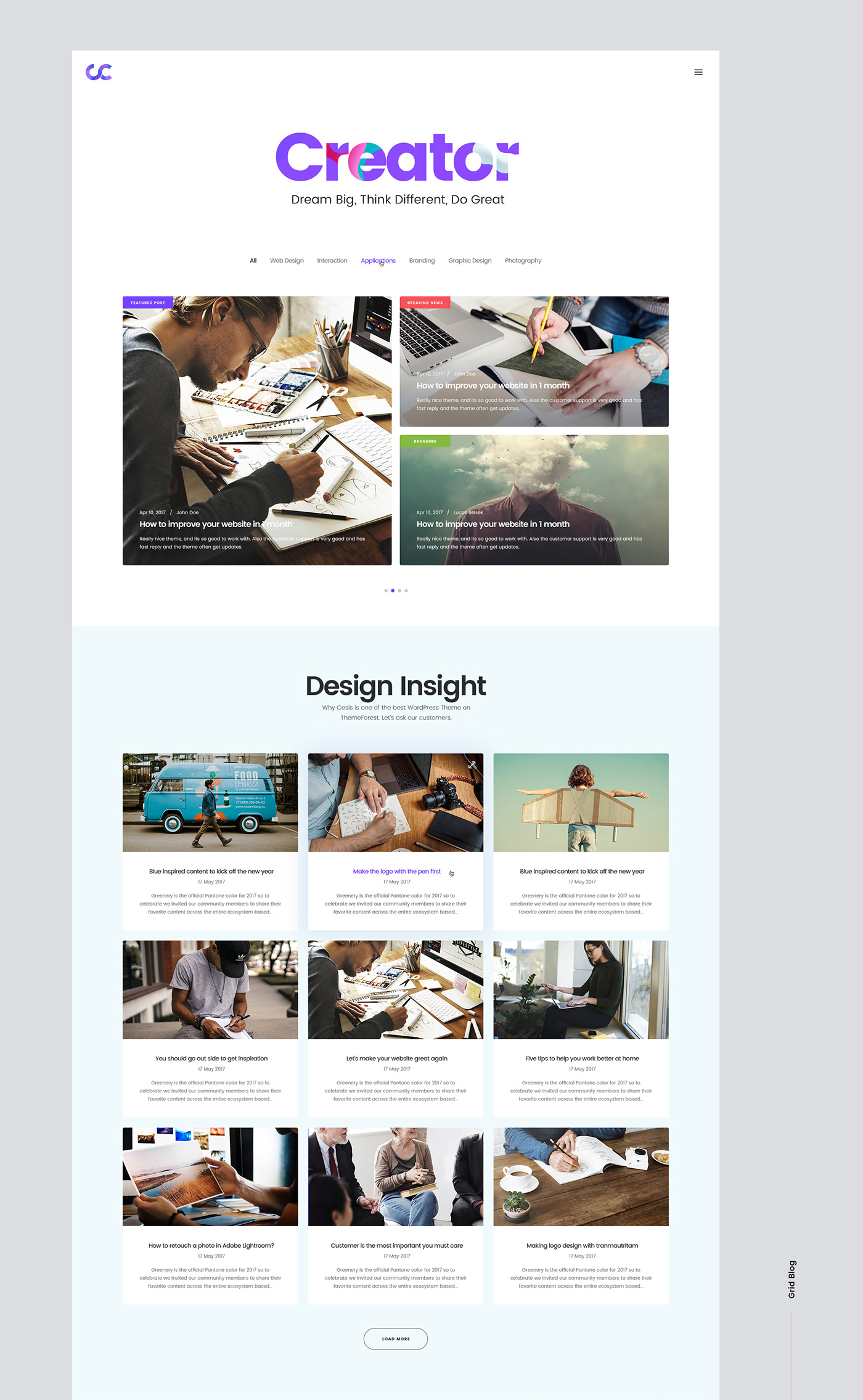 Cesis Creative Agency FREE Website PSD Template on Behance