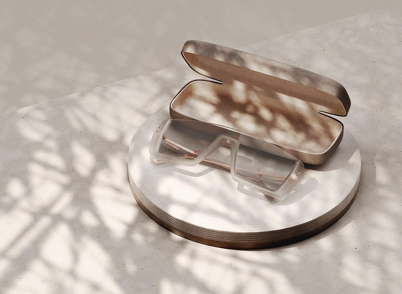 Diesel elia eyewear glasses lens PADOVA pirazzo product sketch Sunglasses