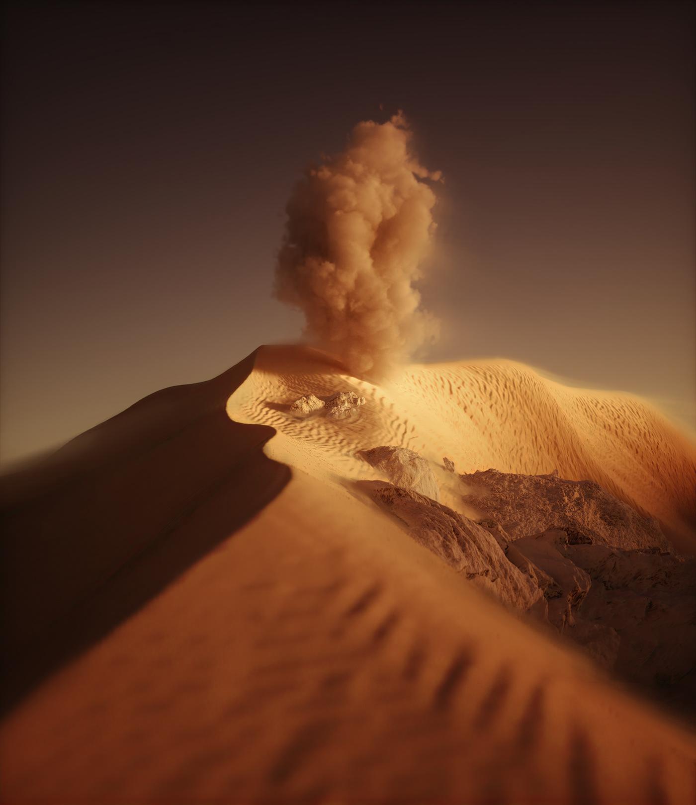 art clouds desert ILLUSTRATION  Landscape minimal Photography  Scifi surreal