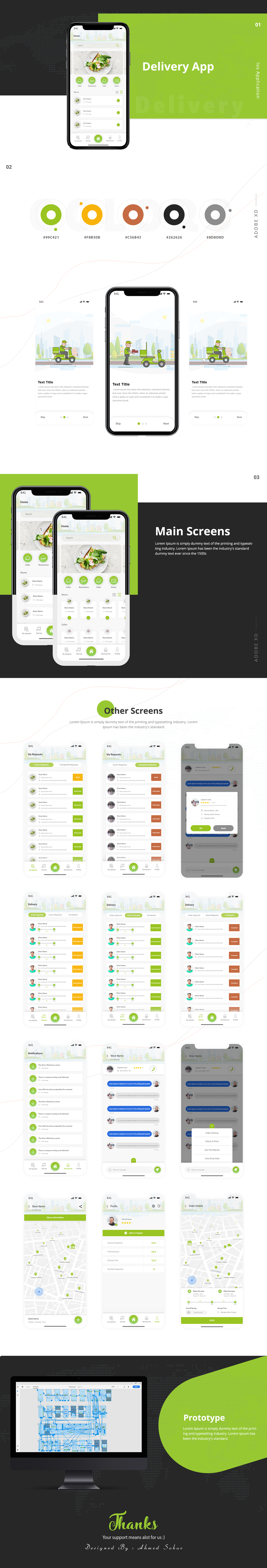 delivery app ux UI photoshop Webdesign