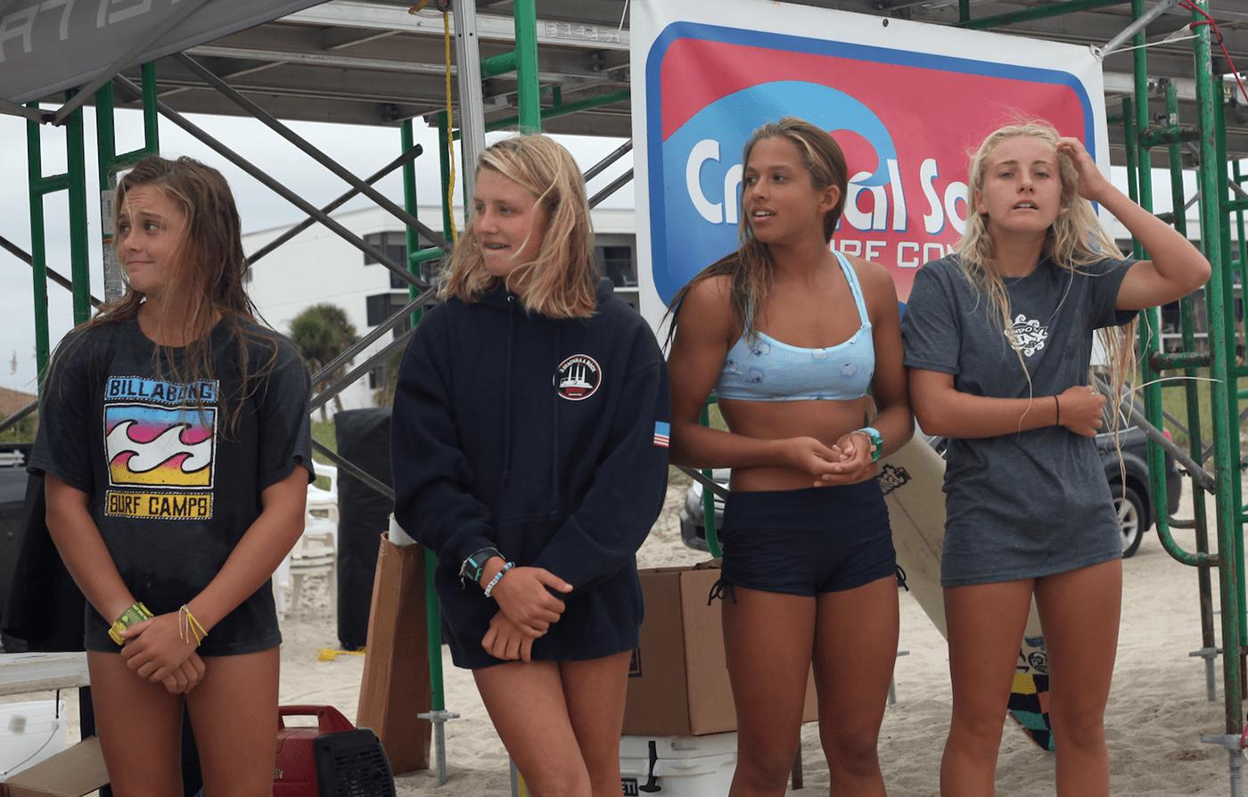 wrightsville beach north carolina Wahine Classic Podium Photos Callie Hertz Crystal South Surf Marine Warehouse Center Blockade Runner Resort Jo Pickett