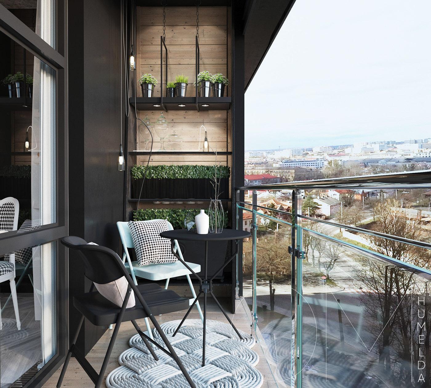 Rambarde de balcon en aluminium et plaques de verre
