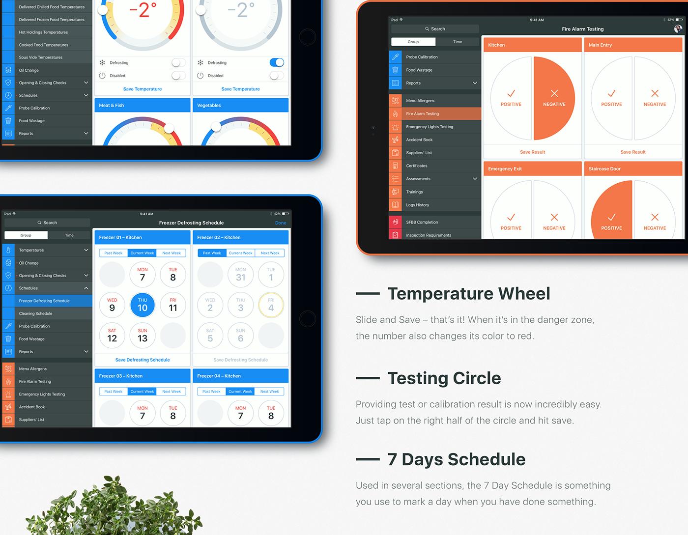 restaurant Food  app iPad Health & Safety ios eco friendly UI user interface