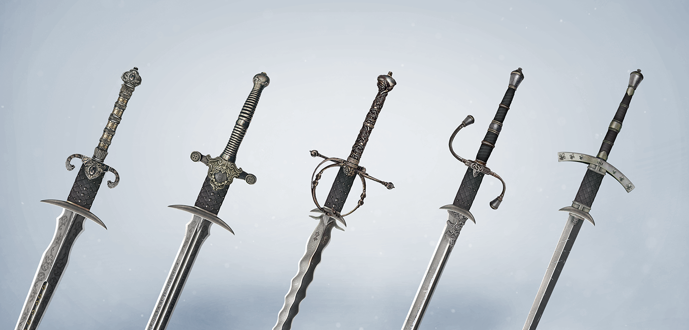 medieval knights Sword shield crossbow wizard archer ios android game castles Helmet weapons customization Matte Painting