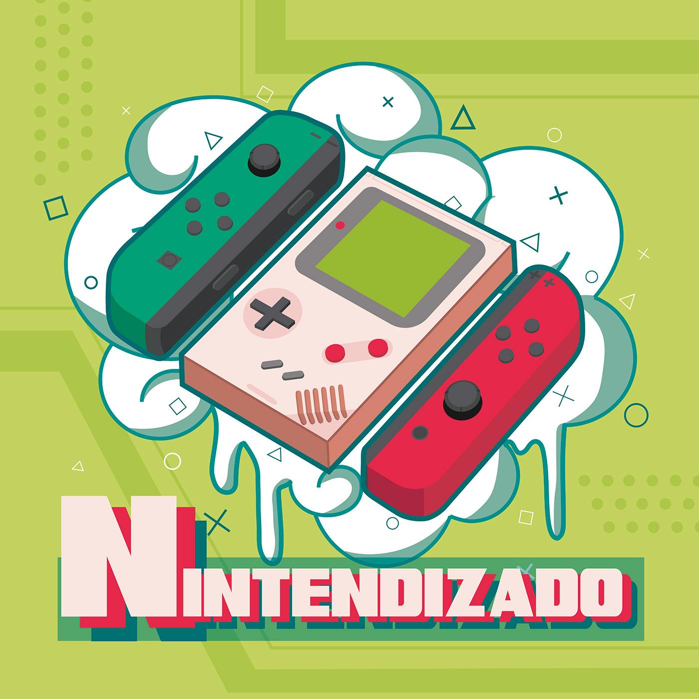 game ilustracion ilustration logo Nintendo podcast