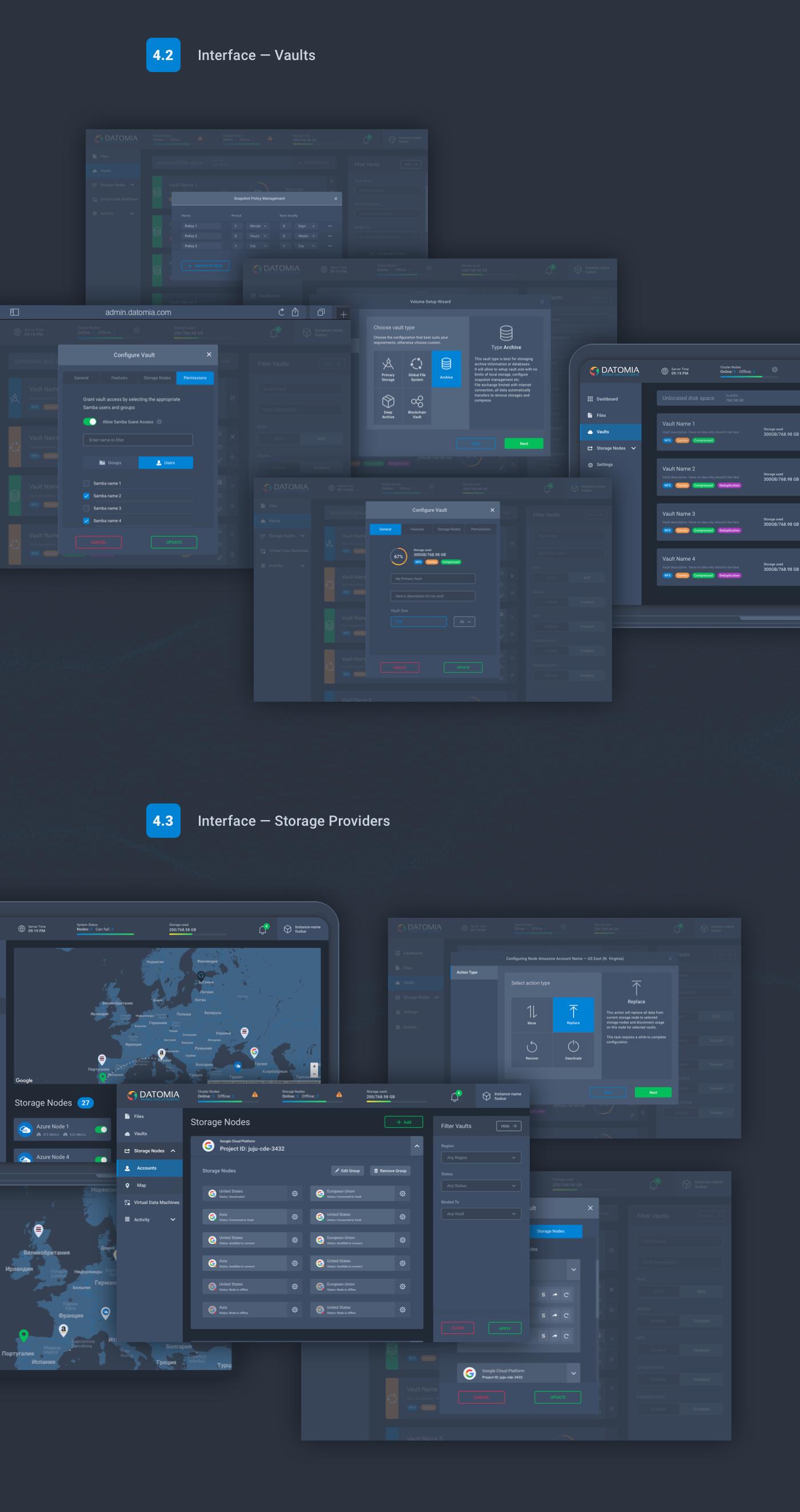 UI ux admin dashboard cloud showcase Web