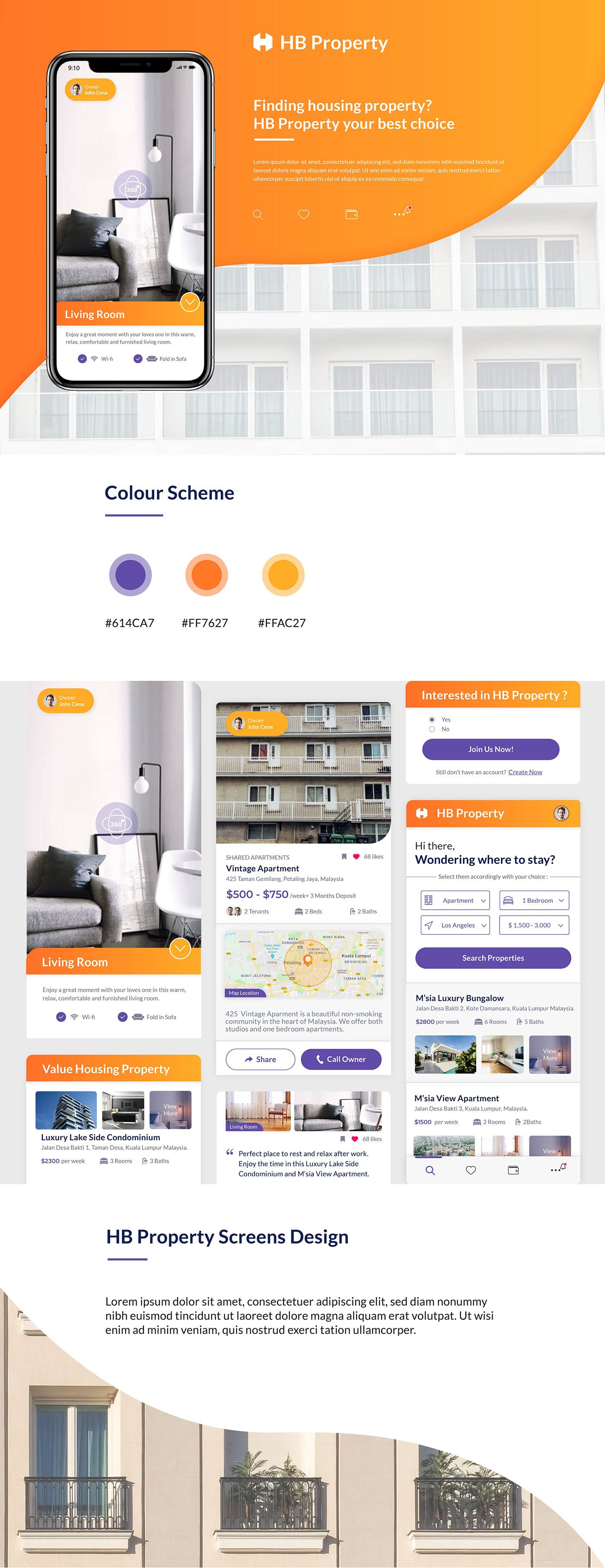 housing housing property Mobile app UI/UX Design uxarmy