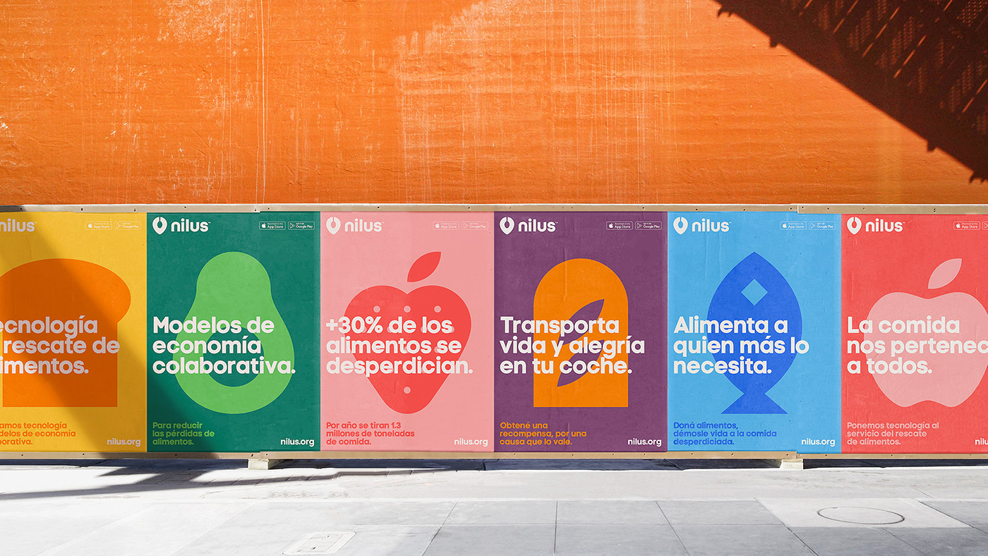 Nilus Food  Technology icons app NGO argentina posters start up rescue