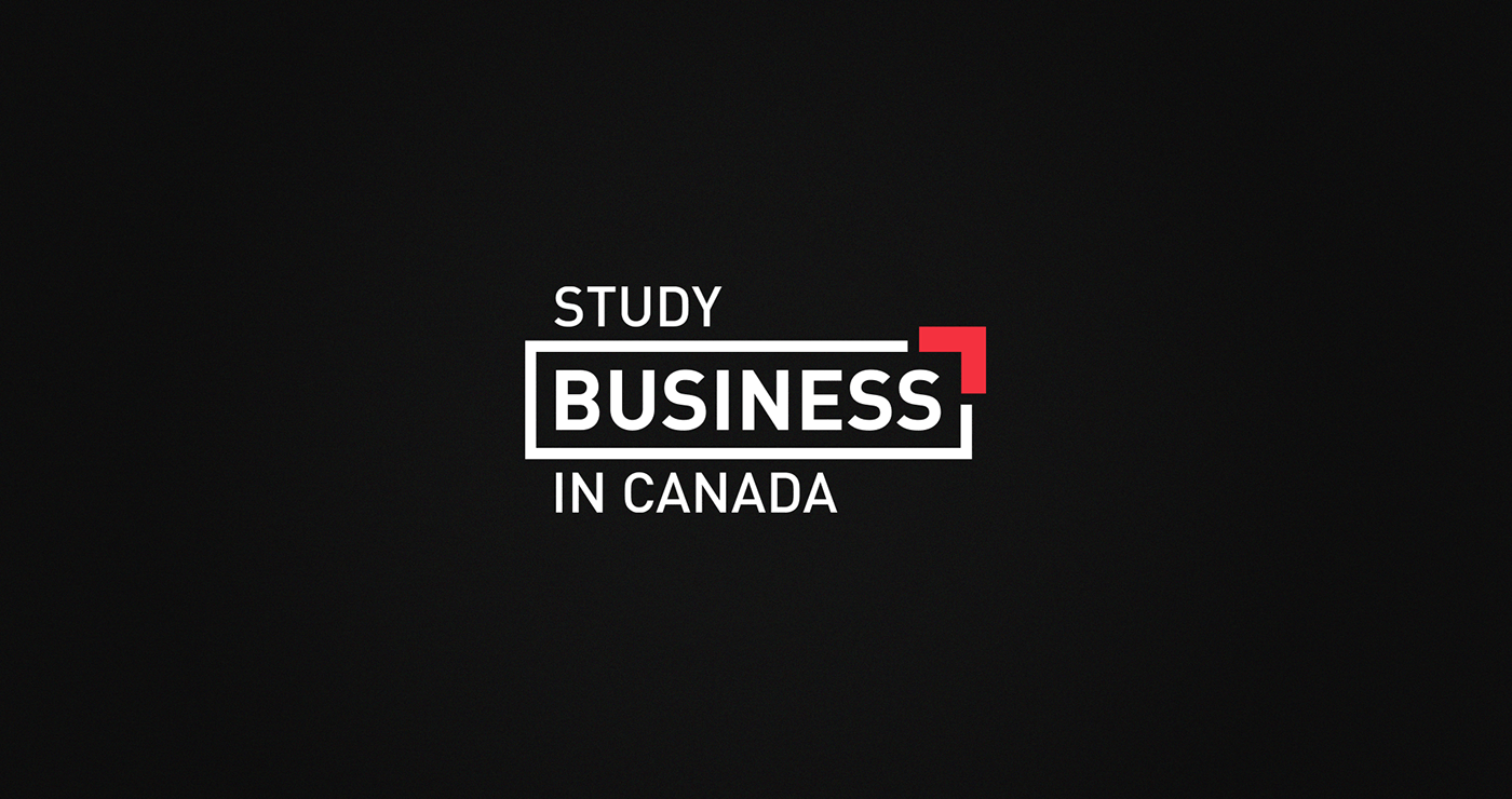Study Business in Canada | White and red logo