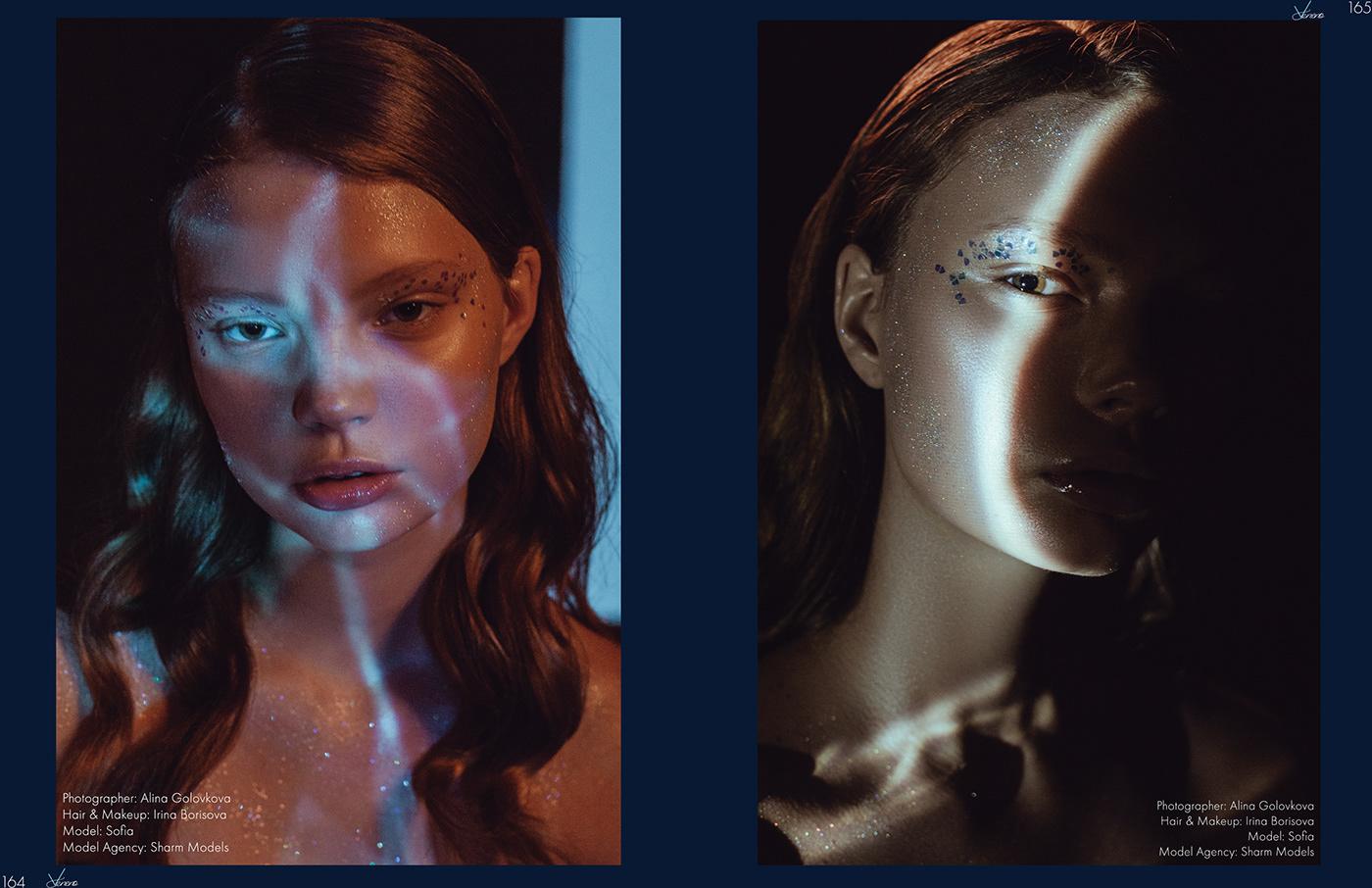 Glitter lights makeup glowing glow shine beauty photoshoot Magic   ghost
